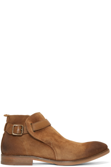 H by Hudson - Tan Suede Hank Boots