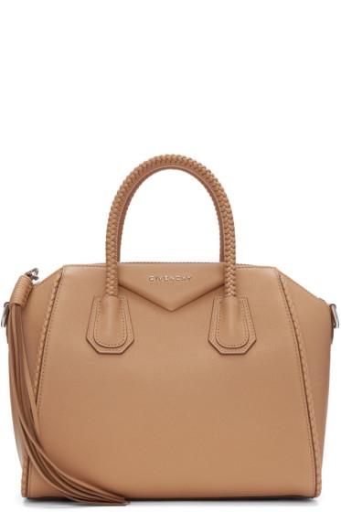 Givenchy - Tan Small Braided Antigona Bag