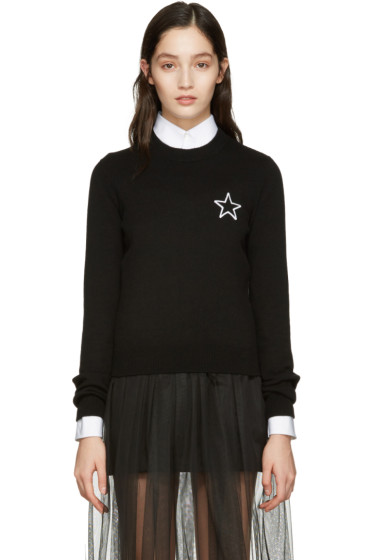 Givenchy - Black Cashmere Star Sweater