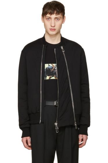 Givenchy - Black Padded Bomber Jacket