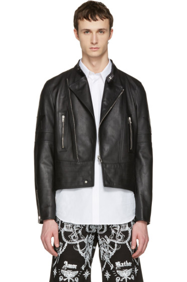 Givenchy - Black Leather Moto Jacket