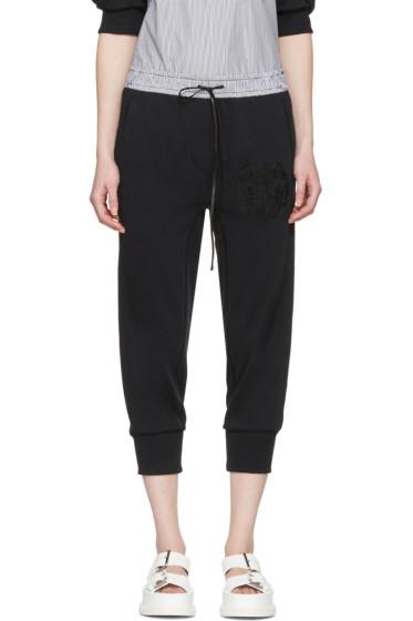 3.1 Phillip Lim - Black Embroidered Lounge Pants