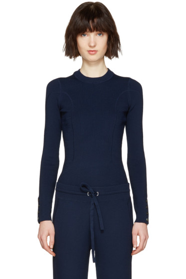 3.1 Phillip Lim - Navy Military Pullover