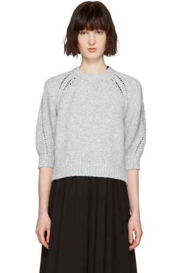 3.1 Phillip Lim - Grey Pointelle Pullover