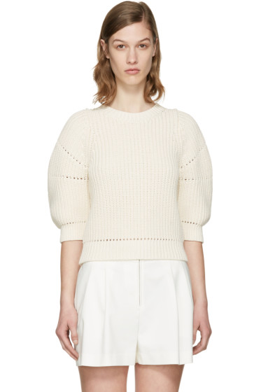 3.1 Phillip Lim - Ecru Cotton Sweater