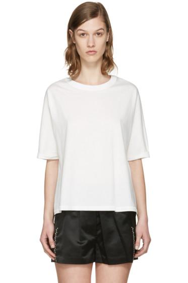 3.1 Phillip Lim - White Silk Combo T-Shirt