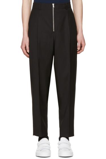 3.1 Phillip Lim - Black Exposed Zip Trousers
