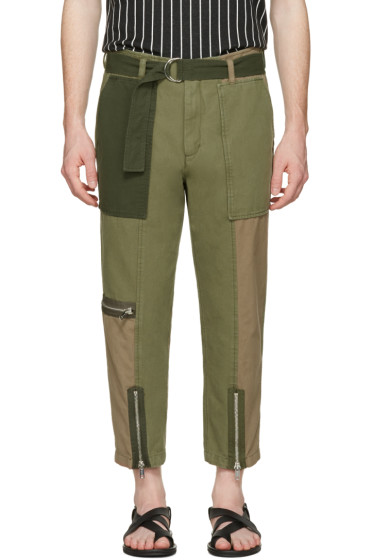 3.1 Phillip Lim - Green Patchwork Flight Trousers