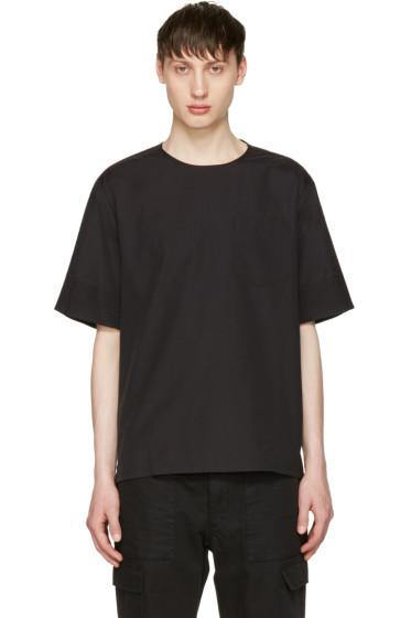 3.1 Phillip Lim - Black Poplin T-Shirt