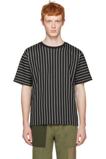 3.1 Phillip Lim - Black Pinstripes T-Shirt
