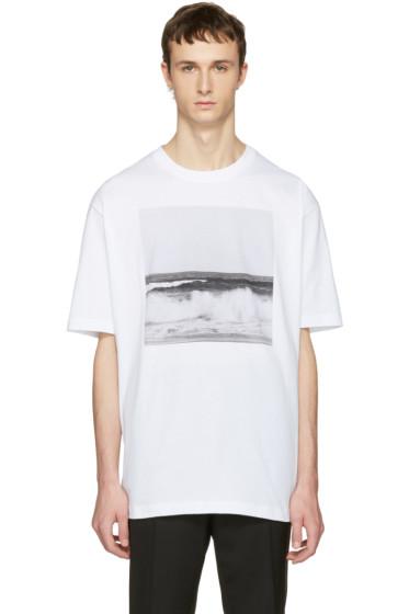 Raf Simons - White Robert Mapplethorpe Edition Waves T-Shirt