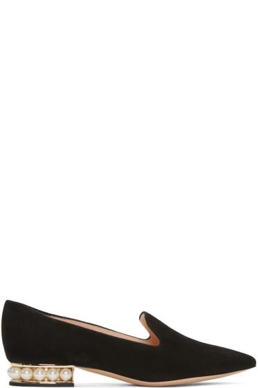 Nicholas Kirkwood - Black Suede Casati Pearl Loafers