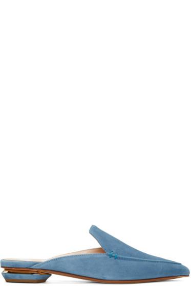 Nicholas Kirkwood - Blue Suede Beya Slip-On Loafers