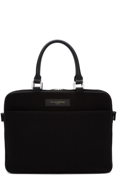 Want Les Essentiels - Black Canvas Haneda Computer Bag