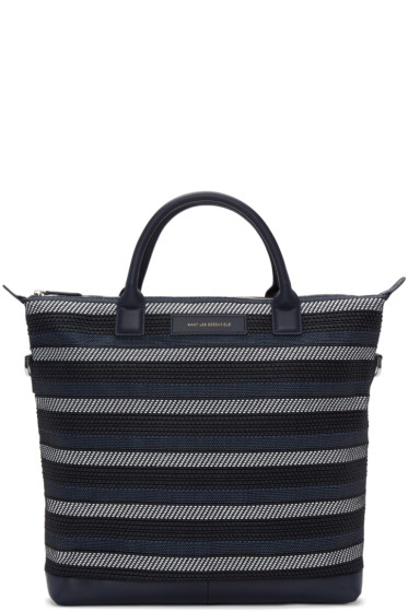 Want Les Essentiels - Navy Canvas & Cord O'Hare Tote