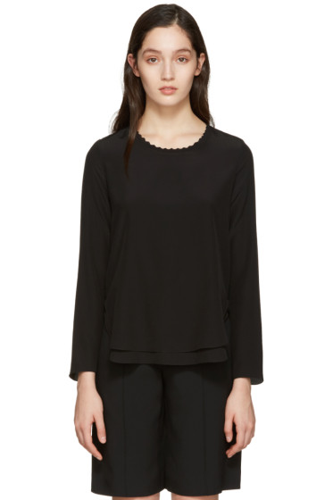 Chloé - Black Scalloped Collar Blouse