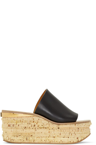 Chloé - Black Camille Wedge Mules