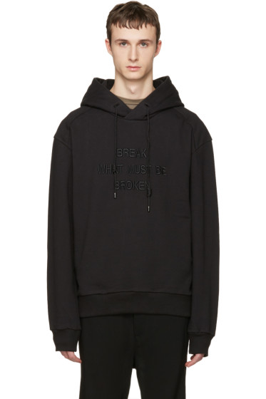 Juun.J - Black 'Break What Must Be Broken' Hoodie