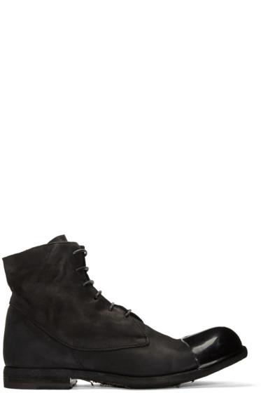 Officine Creative - Black Bubble 24 Cap Toe Boots
