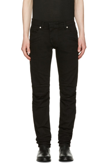 Pierre Balmain - Black Panelled Jeans