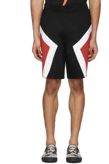 Neil Barrett - Black Panelled Modernist Shorts