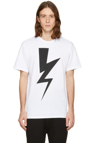Neil Barrett - White One Thunder T-Shirt