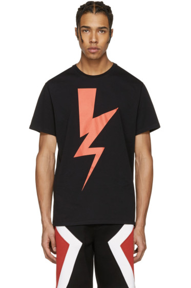 Neil Barrett - Black Abstracted Bolt T-Shirt
