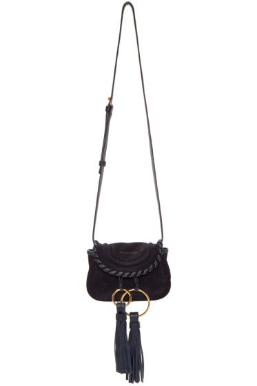 See by Chloé - Navy Suede Mini Polly Bag