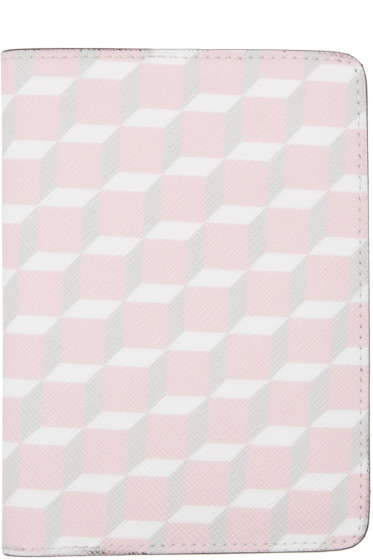 Pierre Hardy - SSENSE Exclusive Pink Cube Passport Holder