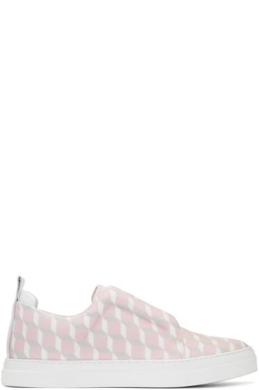 Pierre Hardy - SSENSE Exclusive Pink Cube Slider Slip-On Sneakers