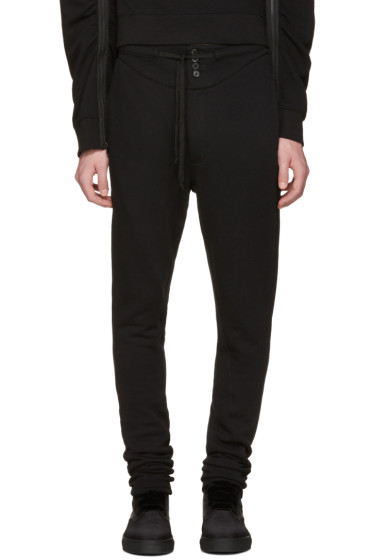 Ann Demeulemeester - Black Buttoned Lounge Pants