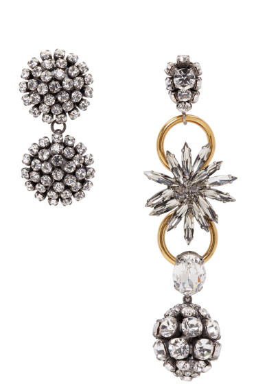 Marni - Gold Strass Clip-On Earrings
