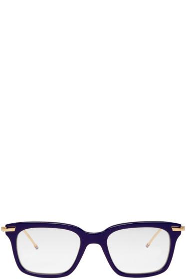 Thom Browne - Navy & Gold TB-701 Glasses