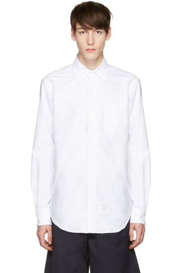 Thom Browne - White Oxford Classic Shirt