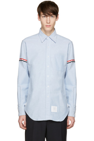 Thom Browne - Blue Oxford Grosgrain Classic Shirt