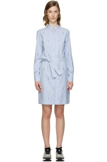 Kenzo - Blue Striped Cartoon Dress