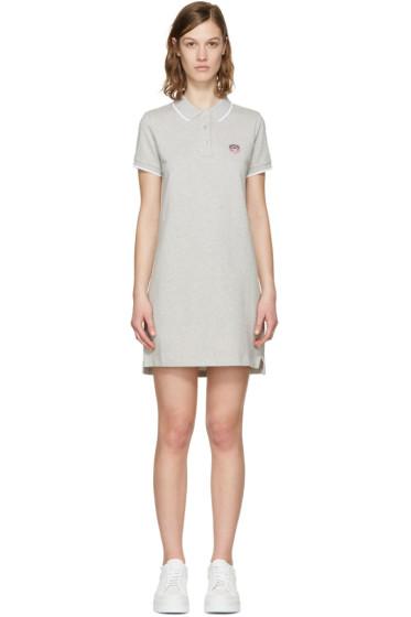 Kenzo - Grey Tiger Crest Polo Dress