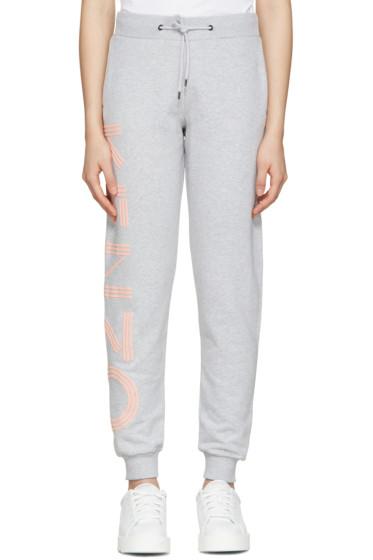 Kenzo - Grey Cotton Track Pants