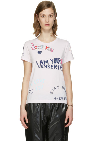 Kenzo - Pink Valentines Text T-Shirt