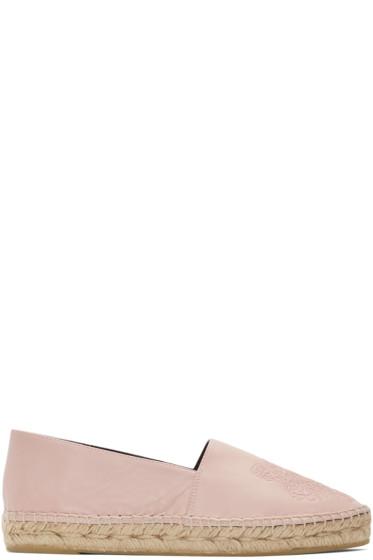 Kenzo - Pink Leather Tiger Espadrilles