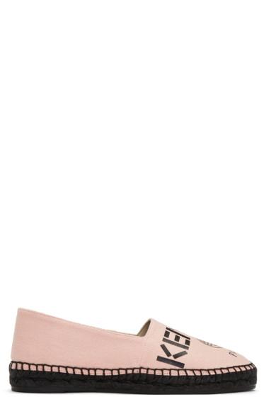 Kenzo - Pink Canvas Logo Espadrilles
