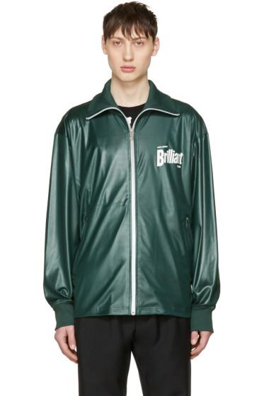 Kenzo - Green 'Brilliant' Zip Sweater