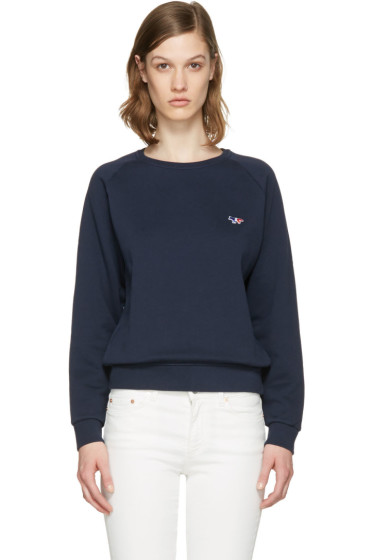Maison Kitsuné - Navy Fox Patch Pullover