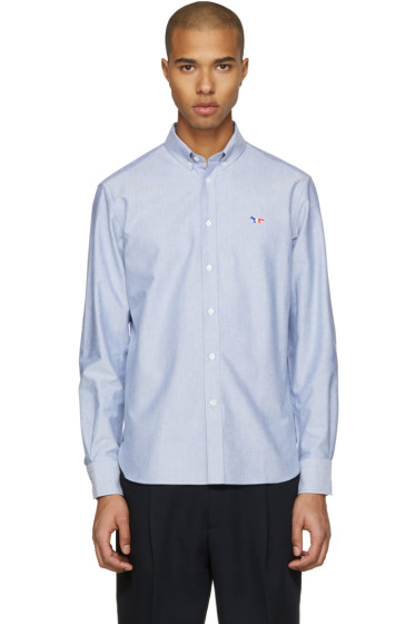 Maison Kitsuné - Blue Fox Patch Shirt