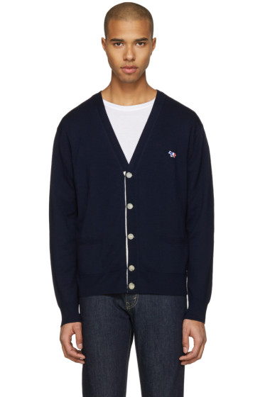 Maison Kitsuné - Navy Classic Fox Patch Cardigan