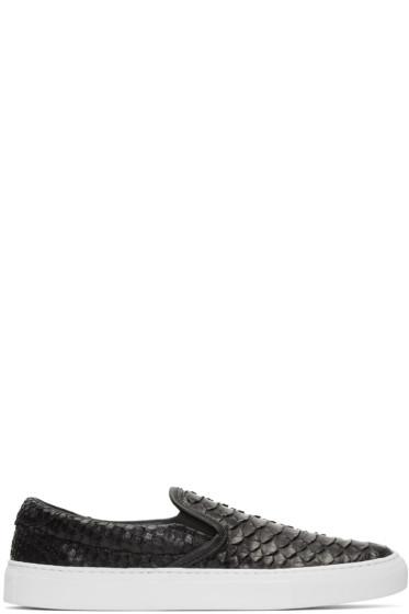 Diemme - Black Python Garda Slip-On Sneakers