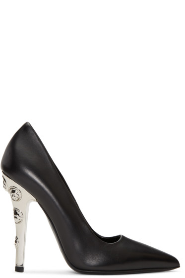 Versus - Black Lion Head Heels