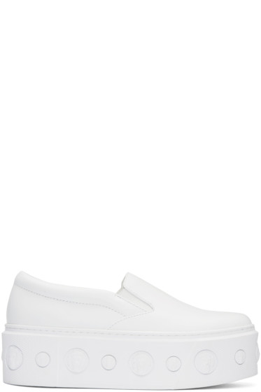 Versus - White Lion Slip-On Platform Sneakers
