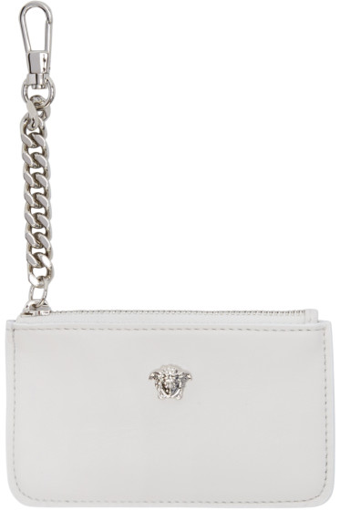 Versace - White Small Medusa Coin Pouch