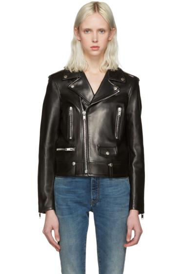 Saint Laurent - Black Leather Motorcycle Jacket